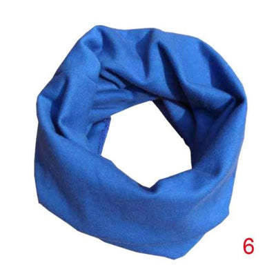 Scarves - 18 Colors Warm Baby Scarf Kids Child Cotton Scarf Boys Girls Pure color O ring scarf children neck Scarves - 06  jetcube