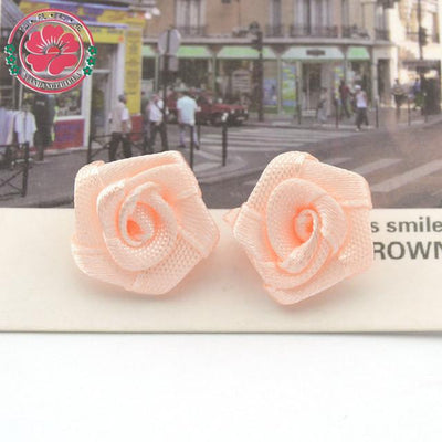 Hair Accessories - 100pcs/lot 1.5cm Fashion Handmade Ribbon Rose Flower For Wedding Decoration  Free Shipping 1-35 - 10  jetcube