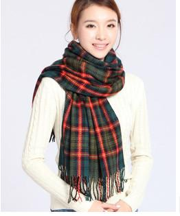 Scarves - 2016 Fashion Wool Winter Scarf Women Spain Desigual Scarf Plaid Thick Brand Shawls and Scarves for Women - 10  jetcube