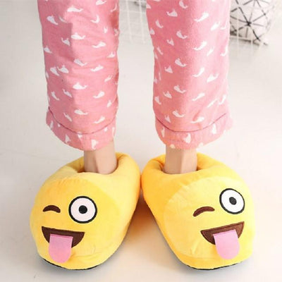 Women's Pumps - 13 Color  Funny Animal  Cute Emoji Slippers Cartoon Slipper Warm Soft Plush Winter Indoor Emoji Shoes - 10  jetcube