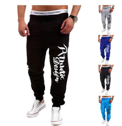 - 2016 Fashion Men Jogger Pants Casual Skinny Sweatpants Letter Print Pants Trousers Bodybuilding Harem Pants Men Pants - 10 / M  jetcube
