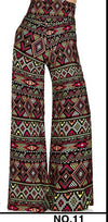 Pants & Capris - 2016 High Waist Loose Pants Palazzo Wide Leg Pants Floral Printing Tribal Pattern Plus Size Pants Palazzo Pants Plus Size 238 - 11 / S  jetcube