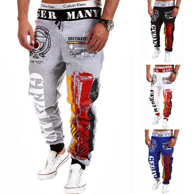 - 2016 Fashion Men Jogger Pants Casual Skinny Sweatpants Letter Print Pants Trousers Bodybuilding Harem Pants Men Pants - 11 / M  jetcube