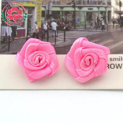 Hair Accessories - 100pcs/lot 1.5cm Fashion Handmade Ribbon Rose Flower For Wedding Decoration  Free Shipping 1-35 - 11  jetcube