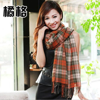 Scarves - 2015 Fashion Wool Women Scarf Spain Desigual Scarf Plaid Thick Large Scarf Women Warp echarpes Scarves Shawl for Woman - 12  jetcube