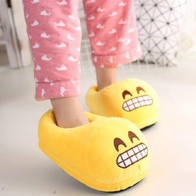 Women's Pumps - 13 Color  Funny Animal  Cute Emoji Slippers Cartoon Slipper Warm Soft Plush Winter Indoor Emoji Shoes - 12  jetcube