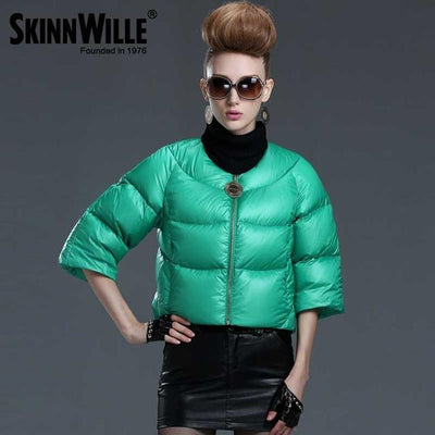 Down Coats - 2016 fashion high quality down coat female short design slim outerwear autumn and winter thickening thin - 13 / L  jetcube