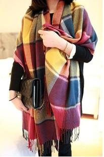 Scarves - 2016 Fashion Wool Winter Scarf Women Spain Desigual Scarf Plaid Thick Brand Shawls and Scarves for Women - 15  jetcube