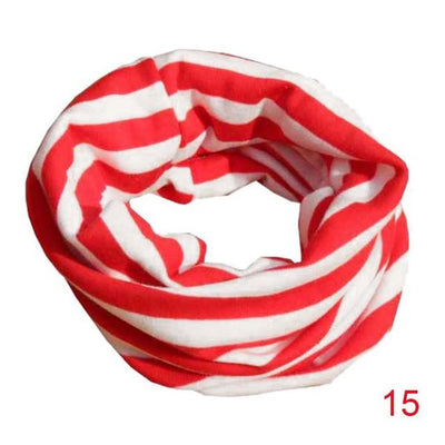 Scarves - 18 Colors Warm Baby Scarf Kids Child Cotton Scarf Boys Girls Pure color O ring scarf children neck Scarves - 15  jetcube
