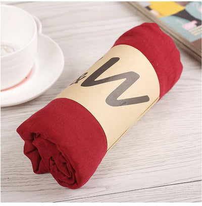 Scarves - 180*80CM New Fashion 2016 Winter Spring Autumn Warm High Quality Brand Scarf Women Solid Soft Vintage All Match Foulard Echarpe - 19wine red  jetcube