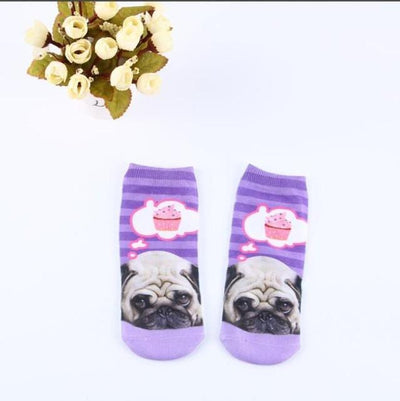 Socks - % Hot Cute 3D Cartoon animal Cat dog Socks Striped Pattern Women Men kids Cotton Sock Female Socks Fashion Casual Short Socks - 1  jetcube