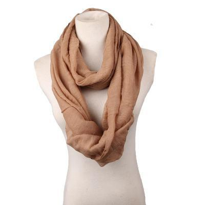 Scarves - 180CM*80cm Long Scarf Women linen Shawls And Scarves Solid Round Towel Autumn Winter Warm Scarf Poncho Feminino Inverno - 1  jetcube