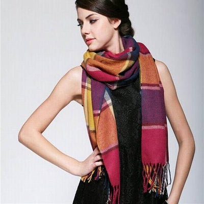 Scarves - 2015 Fashion Wool Women Scarf Spain Desigual Scarf Plaid Thick Large Scarf Women Warp echarpes Scarves Shawl for Woman - 1  jetcube