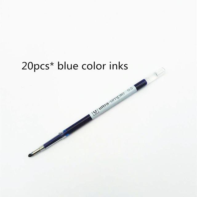 Smart Wristbands - 0.5mm Blue Color Inks Refill For Xiaomi Pens Replacement Only For Old Version Xiaomi pen - 20pcs blue inks  jetcube