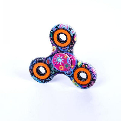 fidget spinner - (LONSUN) Nice Feel Quality Multicolor Tri-Spinner Fidget spinner Speelgoed EDC Hand Spinner Anti Stress Reliever handspinner - 24 Ethnic style  jetcube