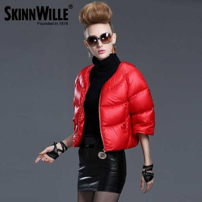 Down Coats - 2016 fashion high quality down coat female short design slim outerwear autumn and winter thickening thin - 25 / L  jetcube
