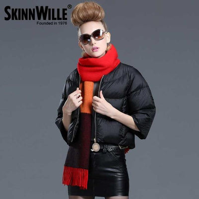 Down Coats - 2016 fashion high quality down coat female short design slim outerwear autumn and winter thickening thin - 28 / L  jetcube