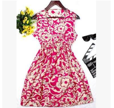 Dresses - 0 Colors Brand Blue stars Fashion Women Sleeveless Florals Print Round Neck Dress 2016 Saias Femininas Summer Clothing S-XXL - 2 / XS  jetcube