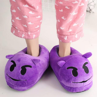 Women's Pumps - 13 Color  Funny Animal  Cute Emoji Slippers Cartoon Slipper Warm Soft Plush Winter Indoor Emoji Shoes - 2  jetcube