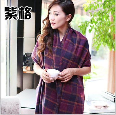 Scarves - 2015 Fashion Wool Women Scarf Spain Desigual Scarf Plaid Thick Large Scarf Women Warp echarpes Scarves Shawl for Woman - 2  jetcube