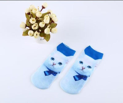 Socks - % Hot Cute 3D Cartoon animal Cat dog Socks Striped Pattern Women Men kids Cotton Sock Female Socks Fashion Casual Short Socks - 2  jetcube