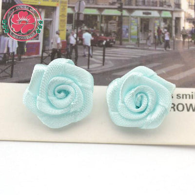 Hair Accessories - 100pcs/lot 1.5cm Fashion Handmade Ribbon Rose Flower For Wedding Decoration  Free Shipping 1-35 - 3  jetcube