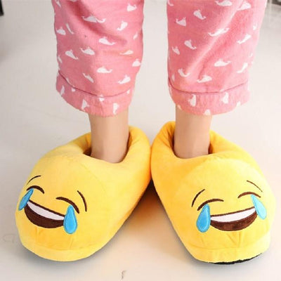 Women's Pumps - 13 Color  Funny Animal  Cute Emoji Slippers Cartoon Slipper Warm Soft Plush Winter Indoor Emoji Shoes - 3  jetcube