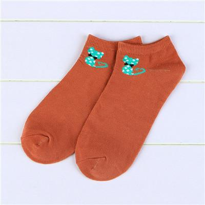 - % 1pair new  Women men Socks Fashion Boat Low Cut Style Woman Ankle Socks Casual Cartoon animal Cat Socks Female girl boy gift - 3  jetcube