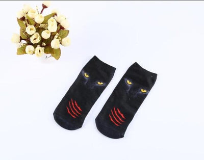 Socks - % Hot Cute 3D Cartoon animal Cat dog Socks Striped Pattern Women Men kids Cotton Sock Female Socks Fashion Casual Short Socks - 3  jetcube