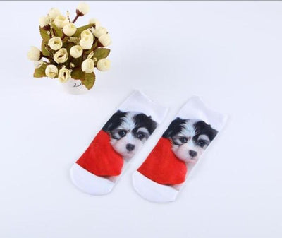 Socks - % Hot Cute 3D Cartoon animal Cat dog Socks Striped Pattern Women Men kids Cotton Sock Female Socks Fashion Casual Short Socks - 4  jetcube