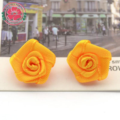 Hair Accessories - 100pcs/lot 1.5cm Fashion Handmade Ribbon Rose Flower For Wedding Decoration  Free Shipping 1-35 - 4  jetcube