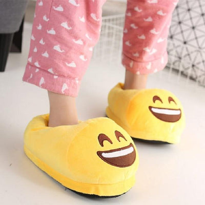 Women's Pumps - 13 Color  Funny Animal  Cute Emoji Slippers Cartoon Slipper Warm Soft Plush Winter Indoor Emoji Shoes - 4  jetcube