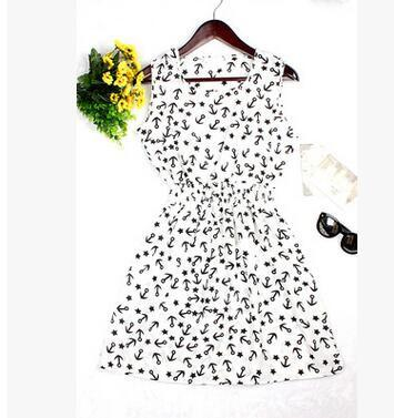 Dresses - 0 Colors Brand Blue stars Fashion Women Sleeveless Florals Print Round Neck Dress 2016 Saias Femininas Summer Clothing S-XXL - 5 / XS  jetcube