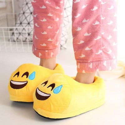 Women's Pumps - 13 Color  Funny Animal  Cute Emoji Slippers Cartoon Slipper Warm Soft Plush Winter Indoor Emoji Shoes - 5  jetcube