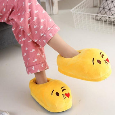 Women's Pumps - 13 Color  Funny Animal  Cute Emoji Slippers Cartoon Slipper Warm Soft Plush Winter Indoor Emoji Shoes - 6  jetcube