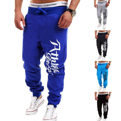 - 2016 Fashion Men Jogger Pants Casual Skinny Sweatpants Letter Print Pants Trousers Bodybuilding Harem Pants Men Pants - 6 / M  jetcube