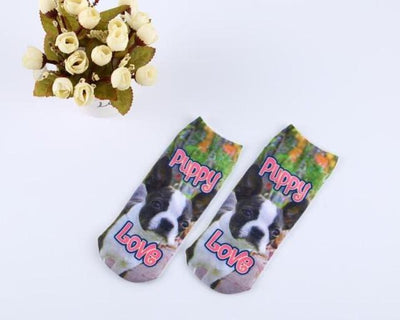 Socks - % Hot Cute 3D Cartoon animal Cat dog Socks Striped Pattern Women Men kids Cotton Sock Female Socks Fashion Casual Short Socks - 6  jetcube