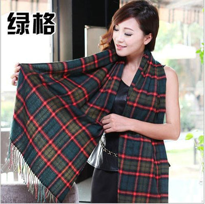 Scarves - 2015 Fashion Wool Women Scarf Spain Desigual Scarf Plaid Thick Large Scarf Women Warp echarpes Scarves Shawl for Woman - 6  jetcube