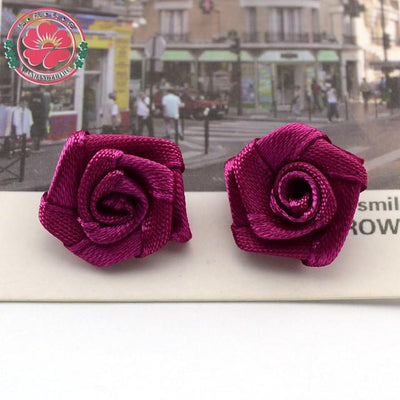 Hair Accessories - 100pcs/lot 1.5cm Fashion Handmade Ribbon Rose Flower For Wedding Decoration  Free Shipping 1-35 - 6  jetcube