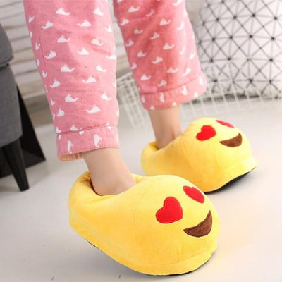 Women's Pumps - 13 Color  Funny Animal  Cute Emoji Slippers Cartoon Slipper Warm Soft Plush Winter Indoor Emoji Shoes - 7  jetcube