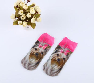 Socks - % Hot Cute 3D Cartoon animal Cat dog Socks Striped Pattern Women Men kids Cotton Sock Female Socks Fashion Casual Short Socks - 7  jetcube