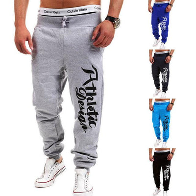 - 2016 Fashion Men Jogger Pants Casual Skinny Sweatpants Letter Print Pants Trousers Bodybuilding Harem Pants Men Pants - 7 / M  jetcube