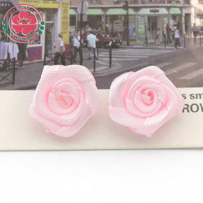 Hair Accessories - 100pcs/lot 1.5cm Fashion Handmade Ribbon Rose Flower For Wedding Decoration  Free Shipping 1-35 - 7  jetcube