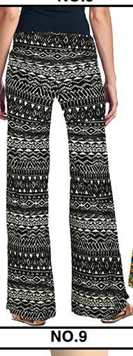 Pants & Capris - 2016 High Waist Loose Pants Palazzo Wide Leg Pants Floral Printing Tribal Pattern Plus Size Pants Palazzo Pants Plus Size 238 - 9 / S  jetcube