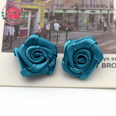 Hair Accessories - 100pcs/lot 1.5cm Fashion Handmade Ribbon Rose Flower For Wedding Decoration  Free Shipping 1-35 - 9  jetcube