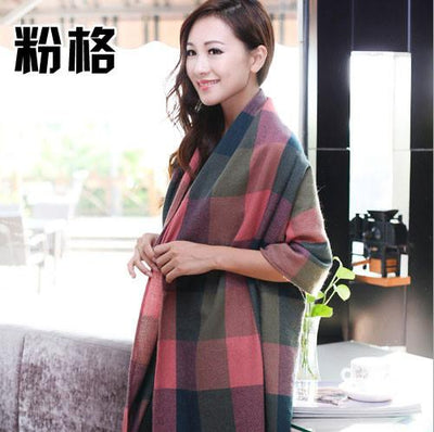 Scarves - 2015 Fashion Wool Women Scarf Spain Desigual Scarf Plaid Thick Large Scarf Women Warp echarpes Scarves Shawl for Woman - 9  jetcube