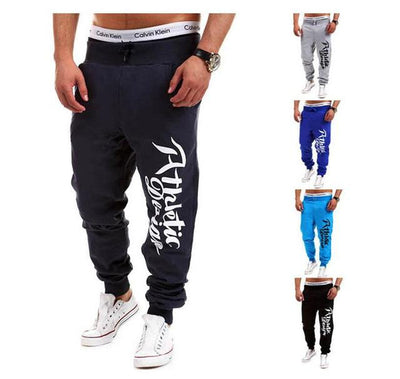 - 2016 Fashion Men Jogger Pants Casual Skinny Sweatpants Letter Print Pants Trousers Bodybuilding Harem Pants Men Pants - 9 / M  jetcube