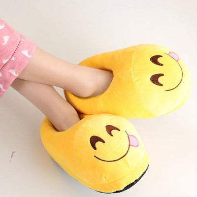 Women's Pumps - 13 Color  Funny Animal  Cute Emoji Slippers Cartoon Slipper Warm Soft Plush Winter Indoor Emoji Shoes - 9  jetcube