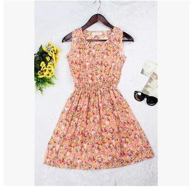 Dresses - 0 Colors Brand Blue stars Fashion Women Sleeveless Florals Print Round Neck Dress 2016 Saias Femininas Summer Clothing S-XXL - 9 / XS  jetcube