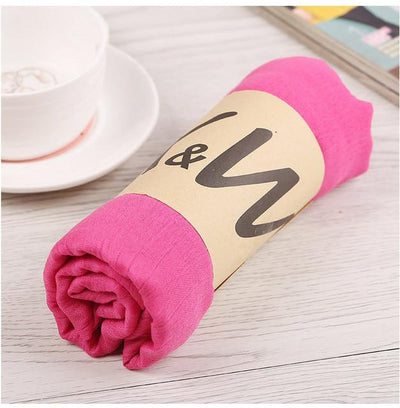 Scarves - 180*80CM New Fashion 2016 Winter Spring Autumn Warm High Quality Brand Scarf Women Solid Soft Vintage All Match Foulard Echarpe - 9rose  jetcube